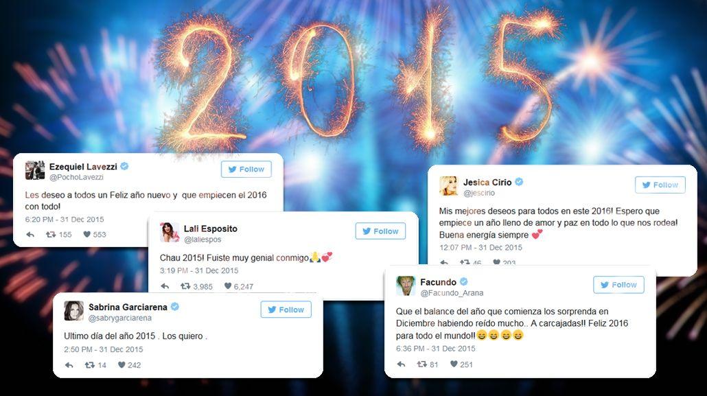 Los famosos despidieron el 2015 en las redes sociales con mensajes emotivos
