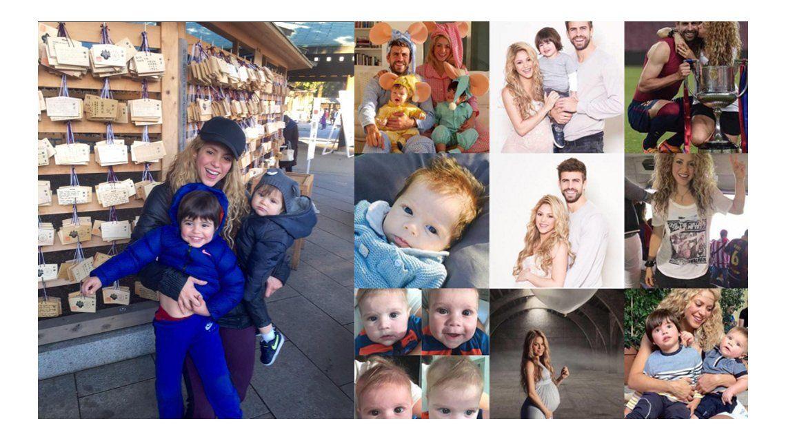 Shakira hizo un balance de su 2015 con Piqué y sus hijos: Fue un año lleno de momentos especiales