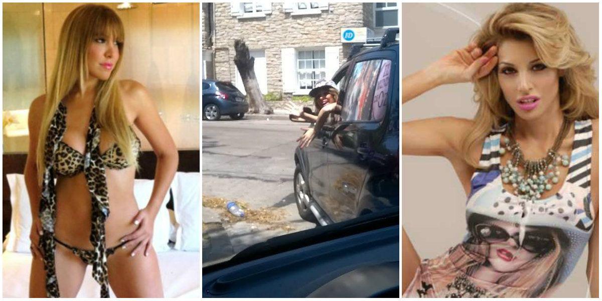 ¡Arrancó la temporada!: Stefy Xipolitakis, a los gritos e insultos en la calle con una vedette
