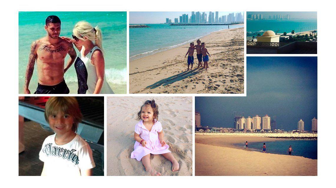 Las exóticas vacaciones de Wanda Nara y Mauro Icardi en Qatar