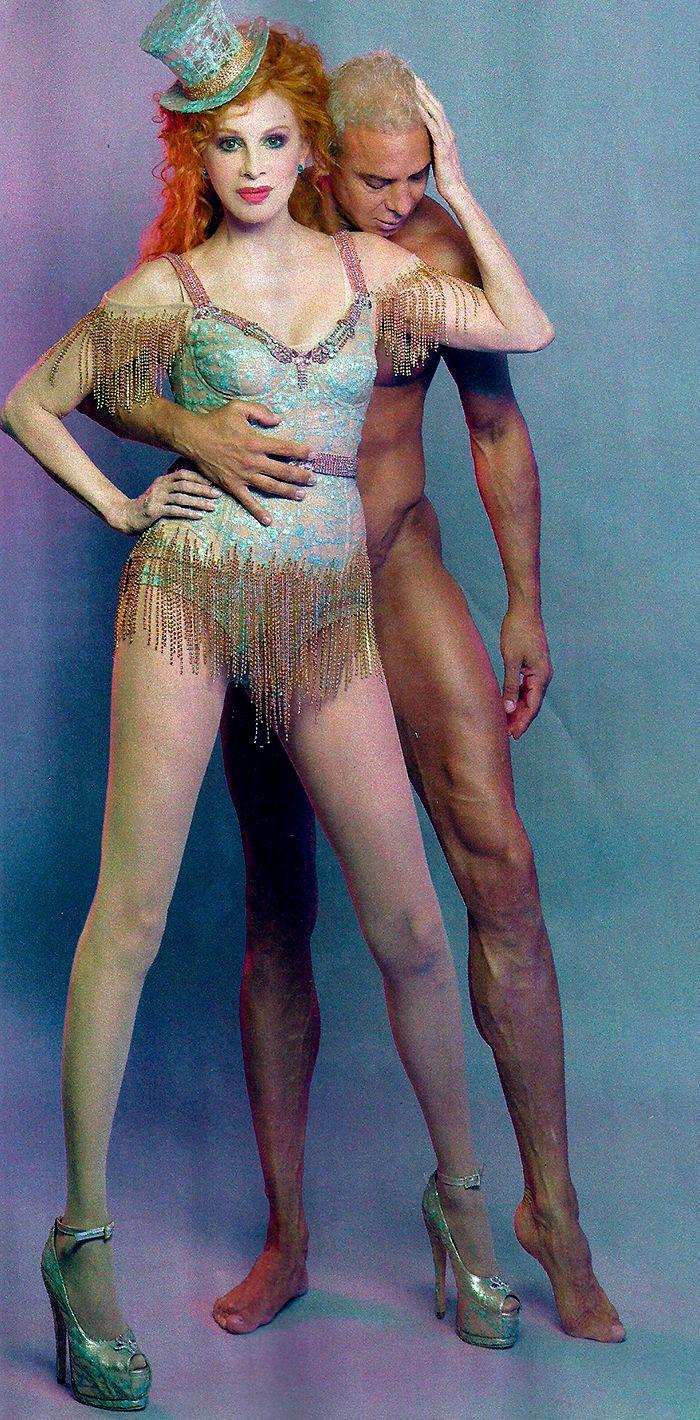 Las fotos jugadas de Nacha Guevara con Flavio Mendoza: Con una increíble naturalidad se desnudó ahí mismo