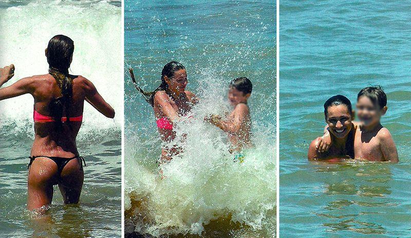 Madre full time: los días de playa de Pampita, con lomazo impecable