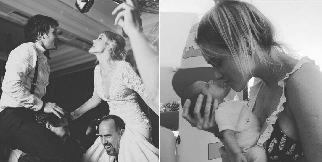 Chechu Bonelli celebró su aniversario con Darío Cvitanich y presentó a Carmela, su segunda hija
