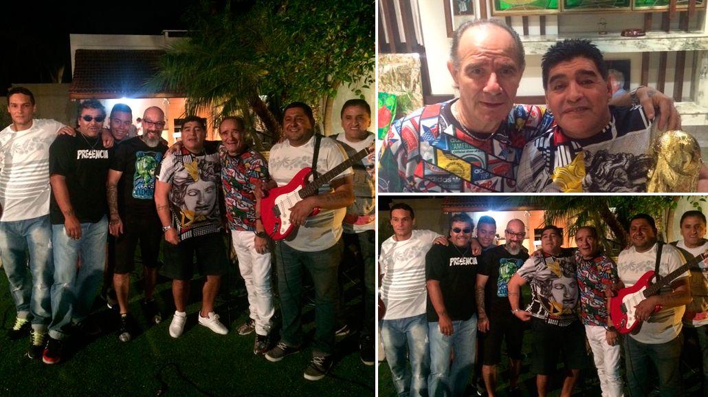 El festejo tropical con Los del fuego de Diego Maradona en la Argentina con Rocío Oliva y Jana