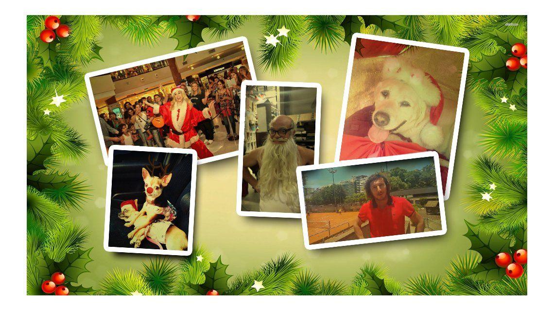 Los mensajes y fotos de los famosos por la Navidad