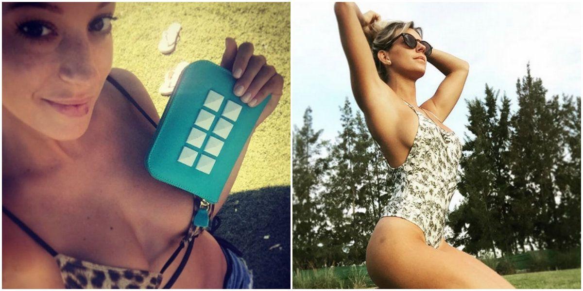 Noelia Marzol calienta el verano con una foto sensual y un particular comentario: Mis moretones, tema aparte