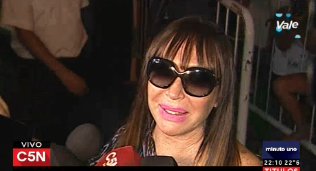 Moria Casán está en Argentina: No voy a hablar de ensañamiento, no me parece adecuado cuando estás en libertad