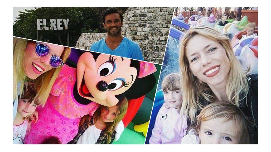 Las divertidas vacaciones de Nicole Neumann y Fabián Cubero con sus hijas en Disney