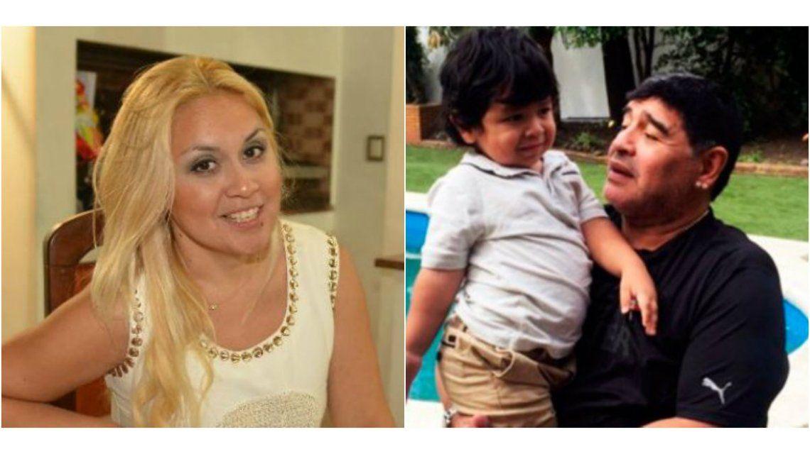 Verónica Ojeda reveló detalles del encuentro entre Diego Maradona y Dieguito Fernando: Lloré al dejar a mi hijo