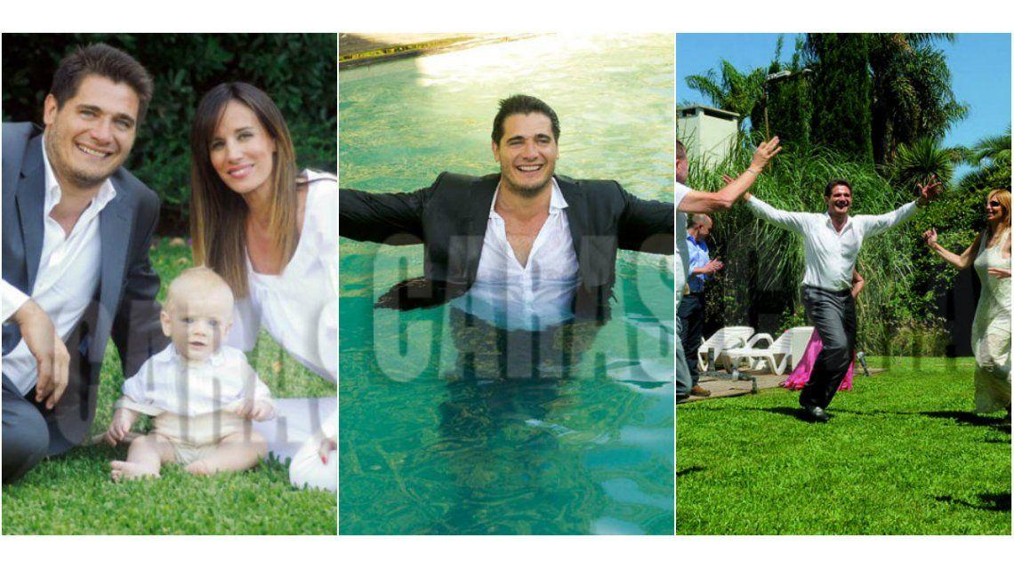 Guillermo Andino bautizó a su hijo menor con una celebración intima en su casona