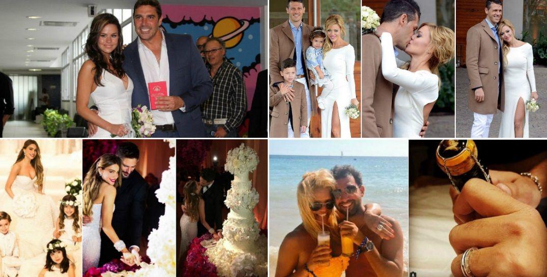 Los famosos que dieron el sí: mirá las fotos de sus casamientos