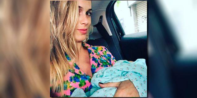 La primera foto de Chechu Bonelli a un día de dar a luz a Carmela: Nos vamos a casita