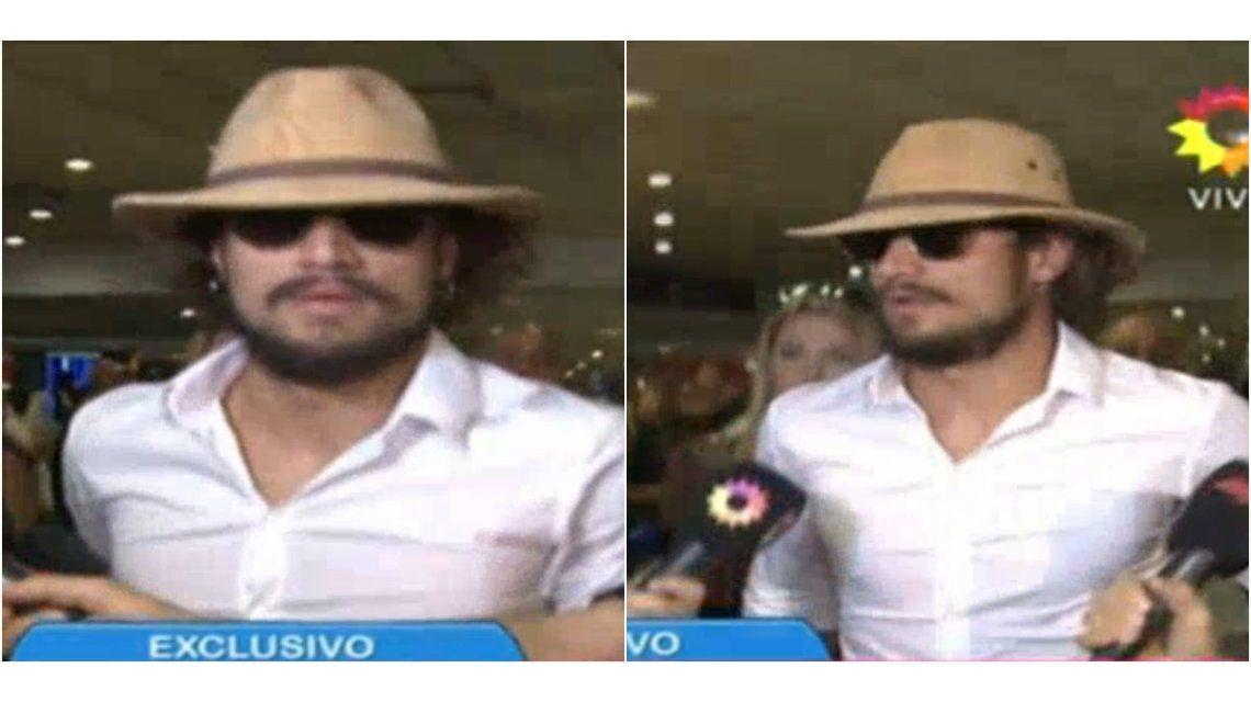 Con un particular look, Daniel Osvaldo llegó al país acompañado de su novia: ¿irá a visitar a su hijo?