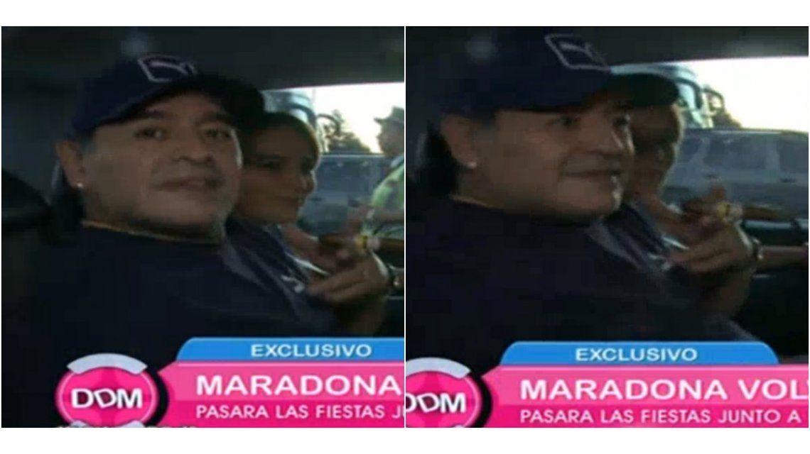 Así llegaba Diego Maradona al país: ¿qué dijo de Moria Casán y de su casamiento con Rocío Oliva?