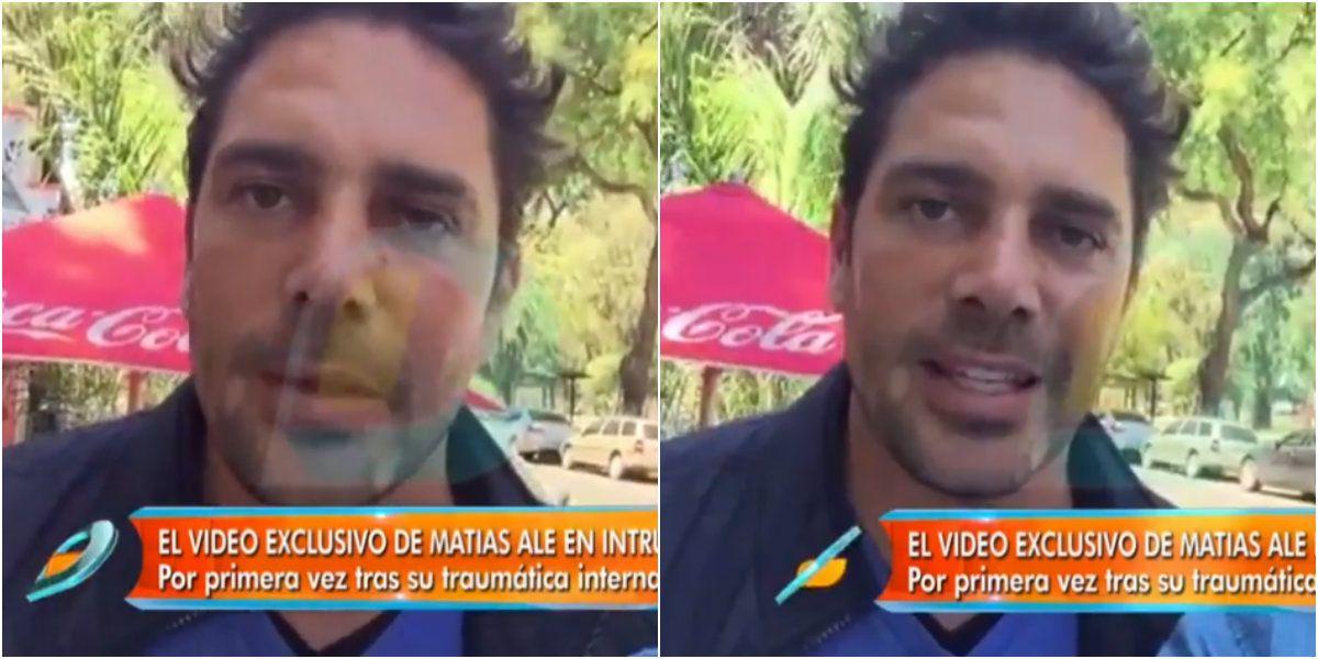Matías Alé habló por primera vez desde su internación: Estoy bien, pronto voy a poder contar lo que me pasó