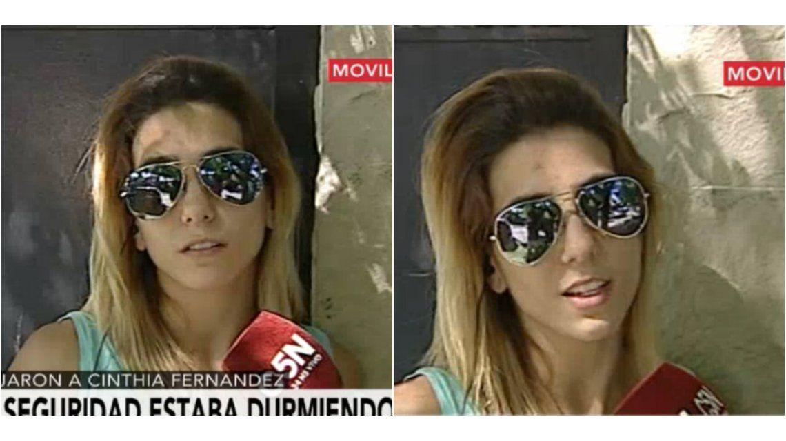 Tras el robo, Cinthia Fernández apunta contra el personal de seguridad: Me quiso pegar porque le dije que era un ladrón