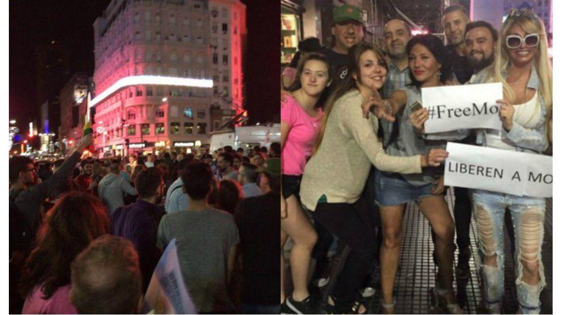 FreeMo: multitudinaria marcha para pedir por la liberación de Moria Casán