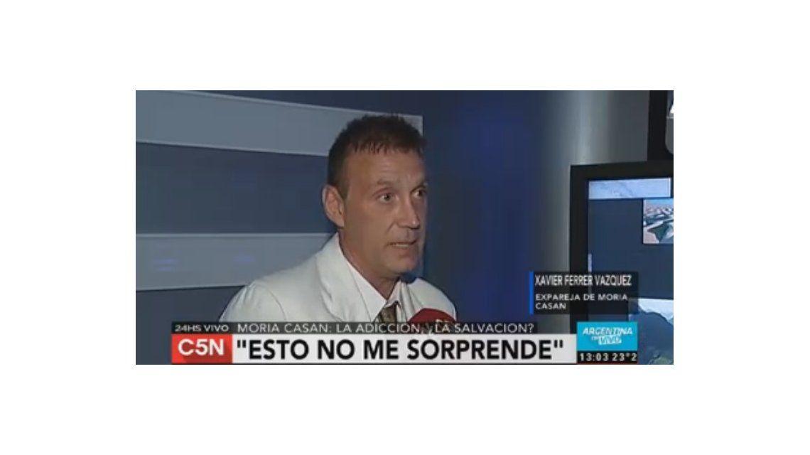 El ex de Moria Casán, Xavier Ferrer Vázquez: Ella es prófuga y lo está pagando