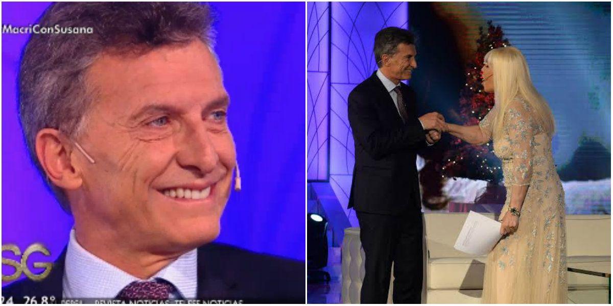 Mauricio Macri habló de todo con Susana Giménez y le dedicó un halago en vivo