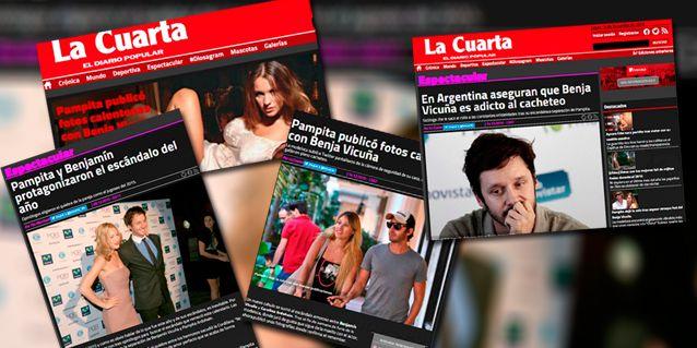Diarios de Chile sobre escándalo entre Pampita y Vicuña: En Argentina aseguran que Benja es adicto al cacheteo