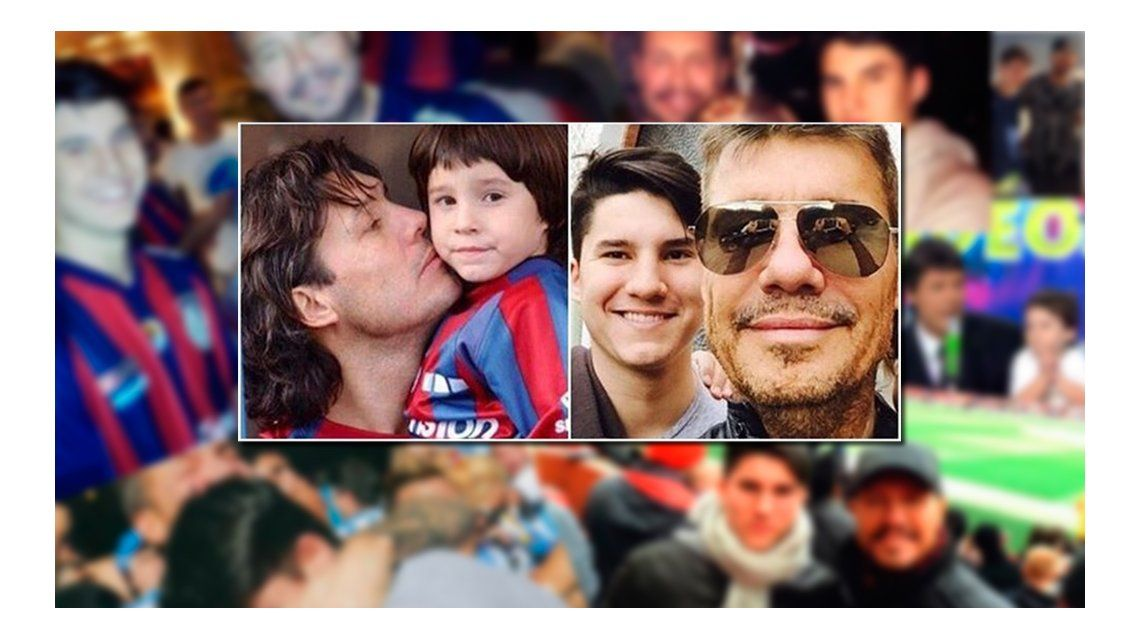 Antes y después: la nostálgica foto que publicó Marcelo Tinelli con su hijo Francisco