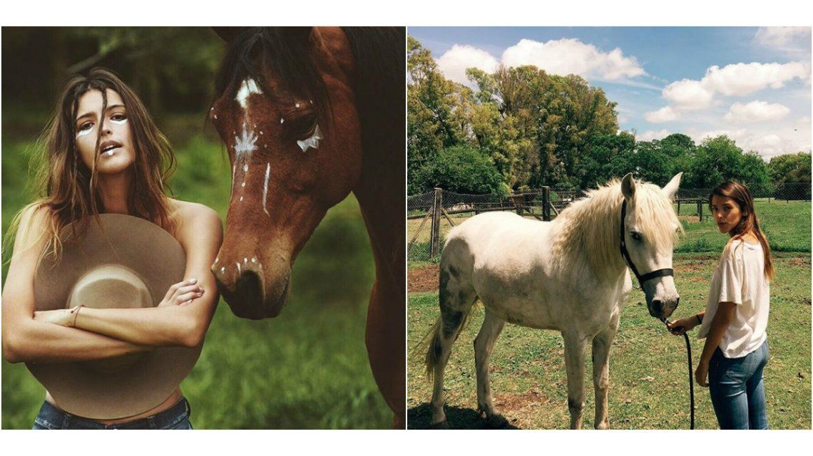 Después de las críticas, Calu Rivero se arrepintió y se mostró con un caballo al natural
