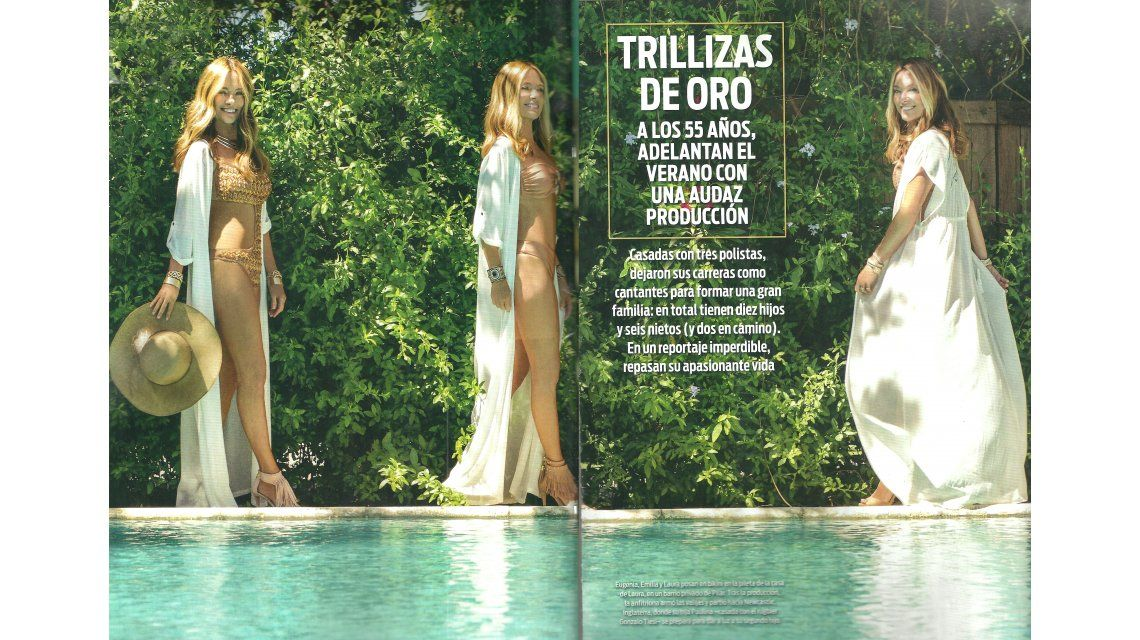Las fotos de las trillizas de oro en bikini y sus confesiones: Nuestra segunda vida fue acompañar a nuestros maridos por el mundo