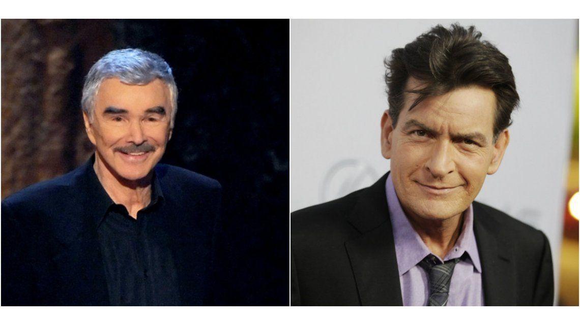 Durísimo: Burt Reynolds dijo que Charlie Sheen se merece tener VIH