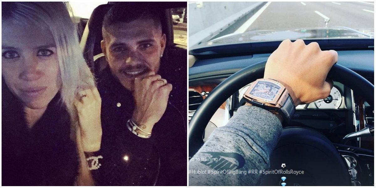 Mauro Icardi publicó una foto de un reloj de 46 mil euros y días después se lo robaron