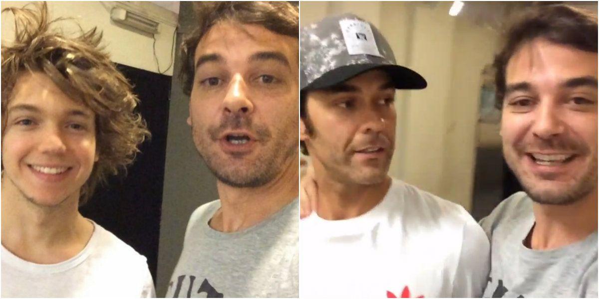 El accidentado saludo de cumpleaños de Pedro Alfonso a Mariano Martínez con Franco Masini como víctima