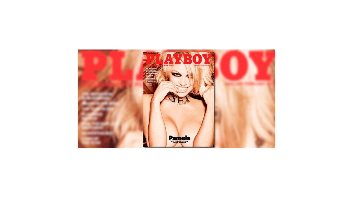 Pamela Anderson, protagonista hot del último desnudo de la revista Playboy