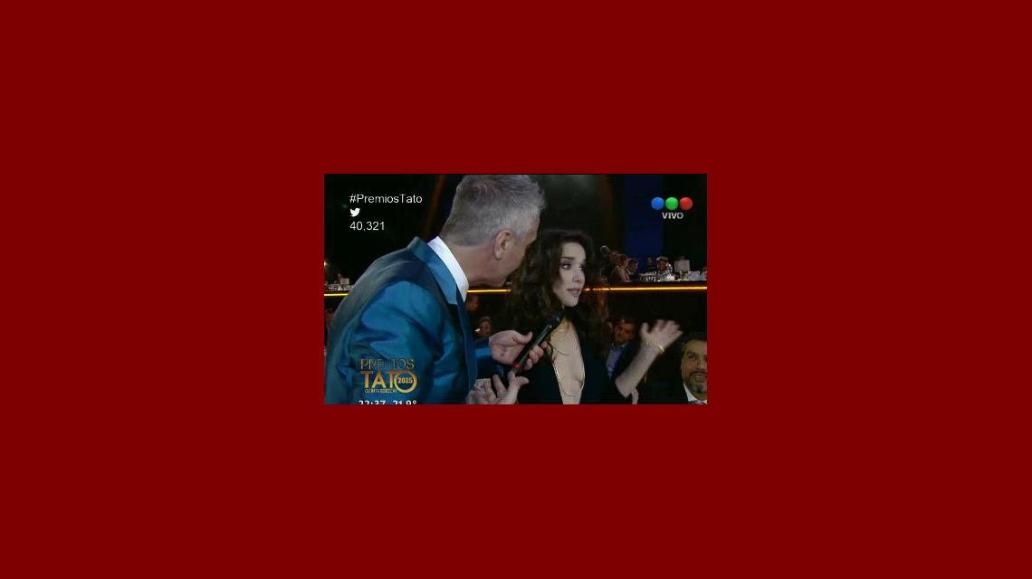 El reclamo de Natalia Oreiro en los Premios Tato por no premiar a Entre Caníbales
