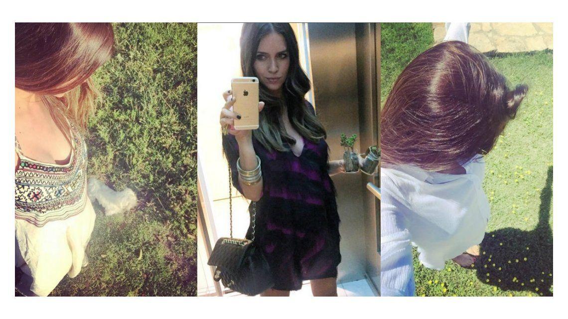 Las divertidas selfies de Zaira Nara embarazada: Pancita asomando de a poco