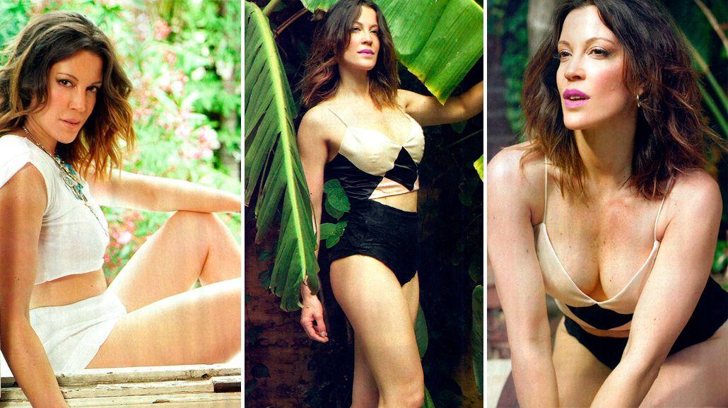 Miriam Lanzoni, en una producción de fotos muy sensual