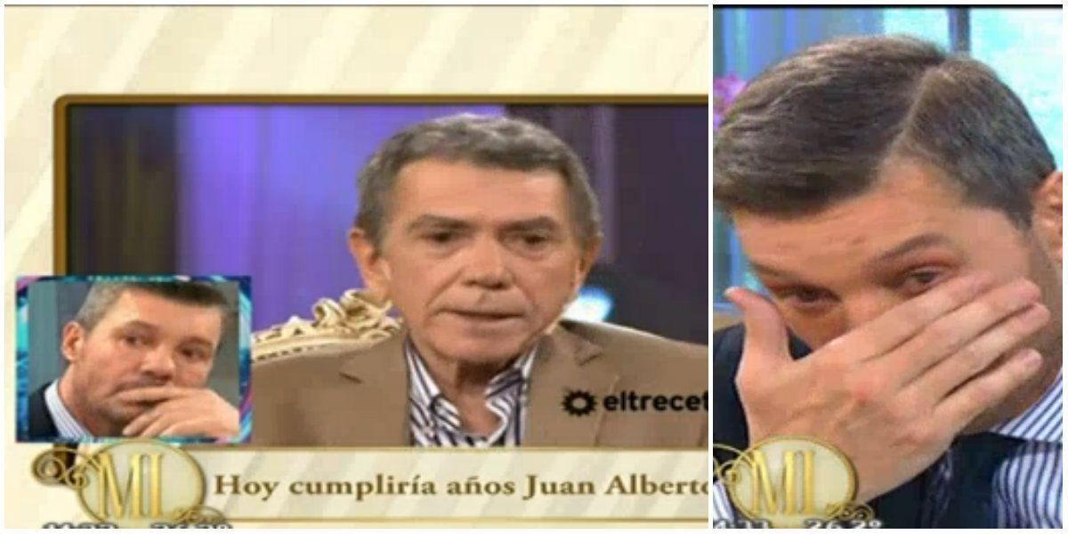 La emoción de Marcelo Tinelli al recordar a Juan Alberto Badía