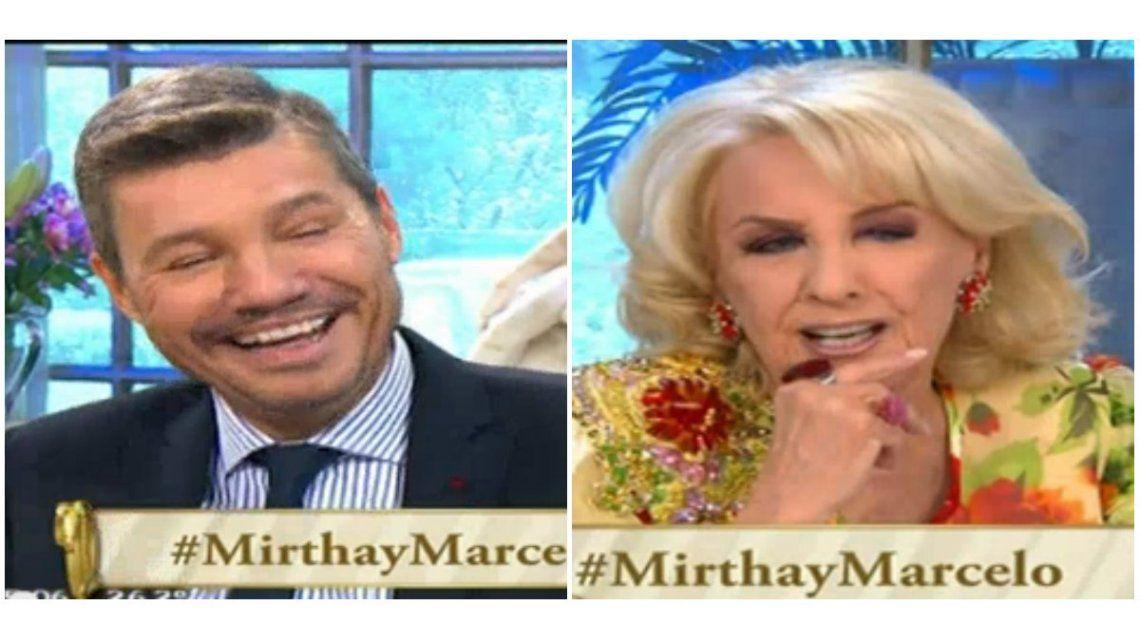 Las dos preguntas picantes que se hicieron Mirtha Legrand y Marcelo Tinelli