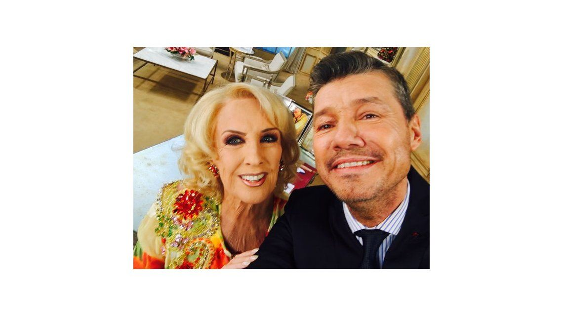 La selfie de Mirtha Legrand y Marcelo Tinelli en un histórico Almorzando.. a solas