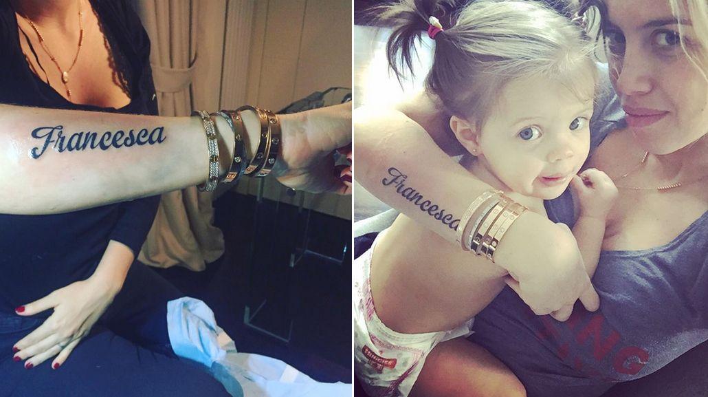 Mirá el jugado tatuaje que se hizo Wanda Nara para homenajear a su hija