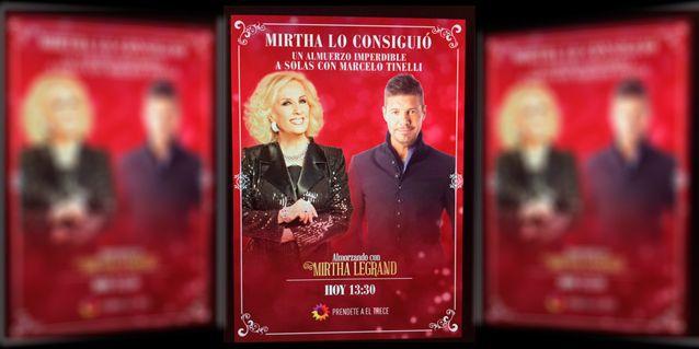 Encuentro de grandes: Marcelo Tinelli almorzará a solas con Mirtha Legrand