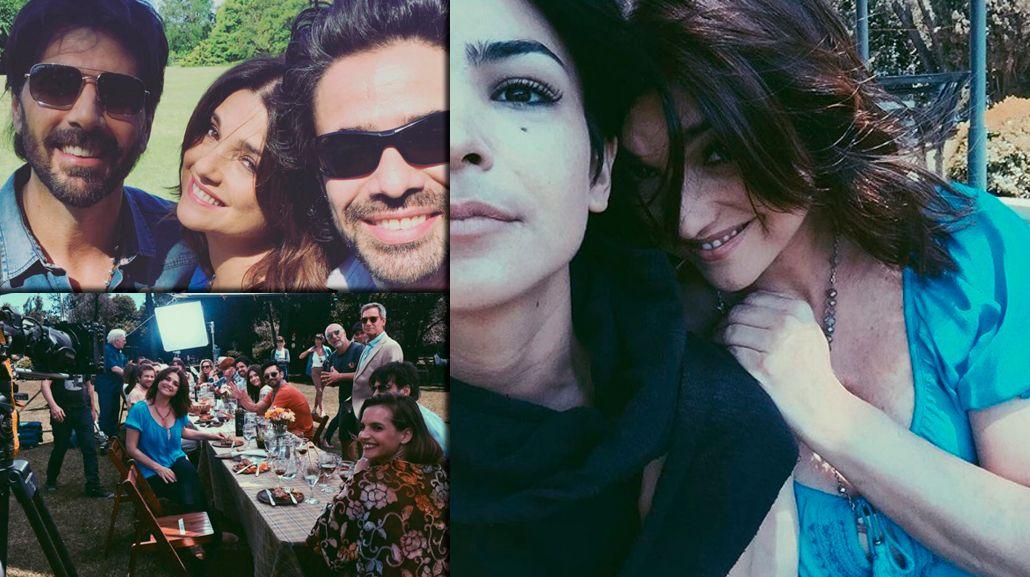 Siguen las grabaciones de Los ricos no piden permiso: las divertidas fotos de Agustina Cherri, Araceli González y Juan Darthés