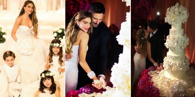 La excéntrica boda de Sofía Vergara y Joe Manganiello: 400 invitados, increíble torta y mágico altar