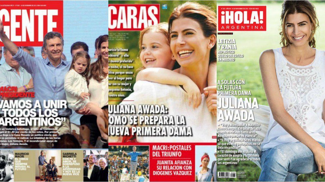 Mauricio Macri, nuevo presidente, y cómo se prepara la primera dama, Juliana Awada