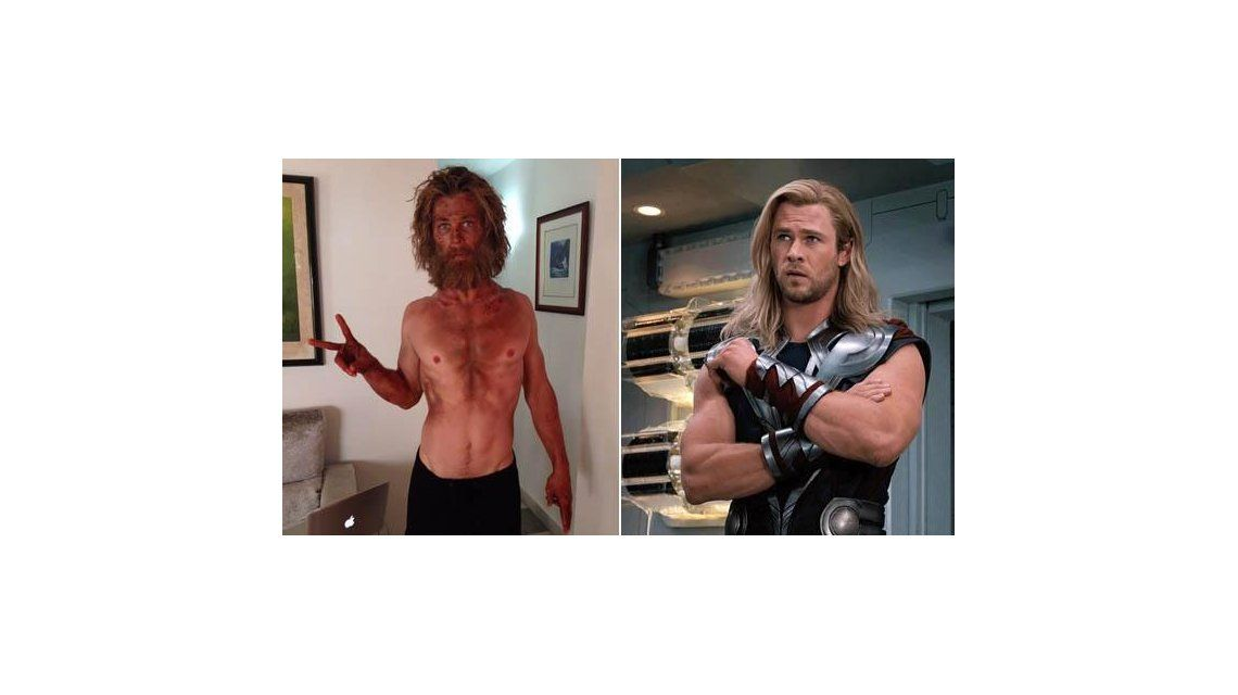 Mirá la increíble transformación de Chris Hemsworth