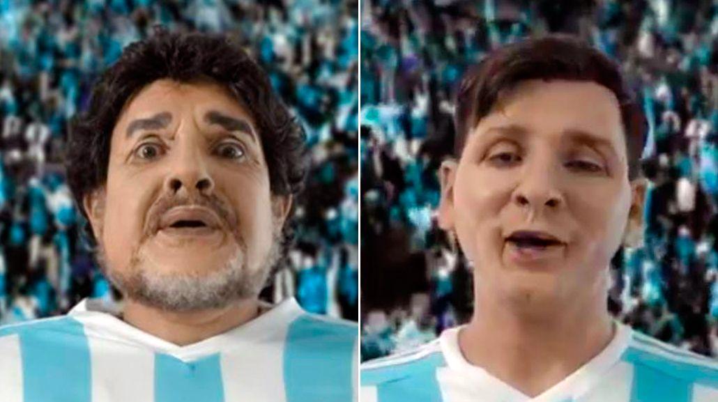 Imperdible imitación de Martín Bossi: Maradona y Messi, de cara al balotaje