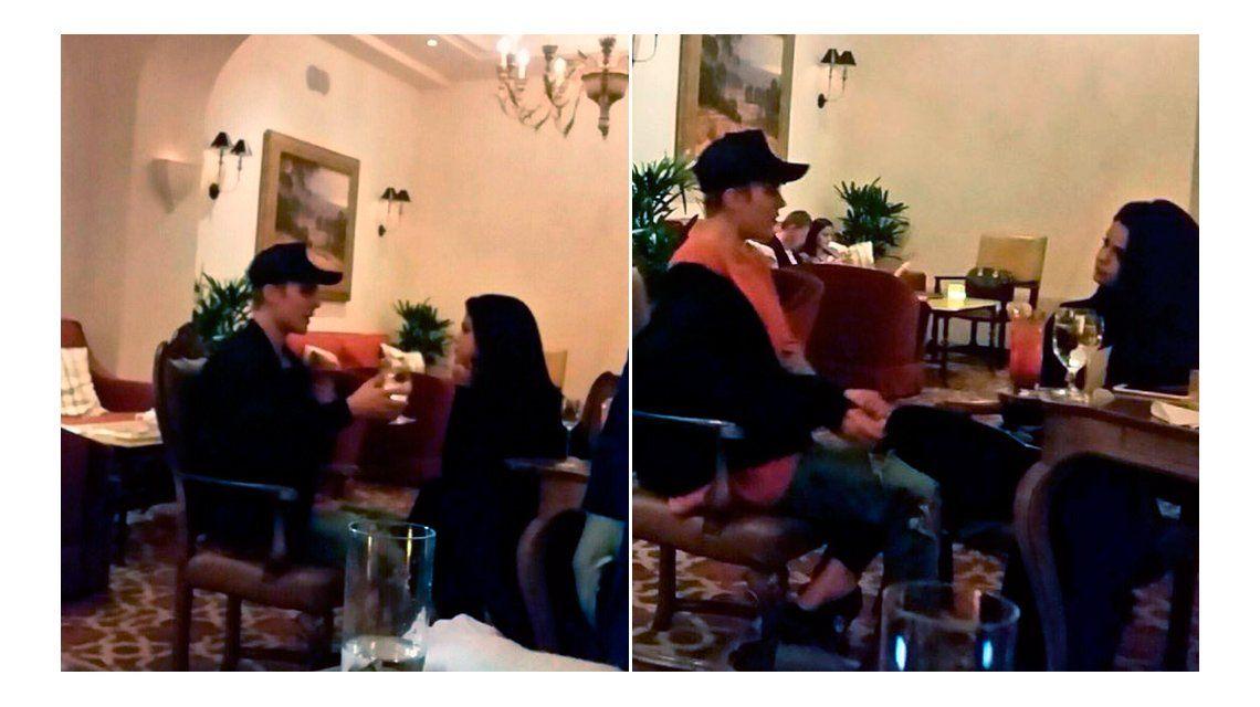 Descubrieron a Justin Bieber y Selena Gómez en una cena romántica en Los Ángeles
