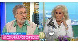 Luis Brandoni: Me enojo con Mirtha por sus mentiras, Alfonsín nunca la prohibió