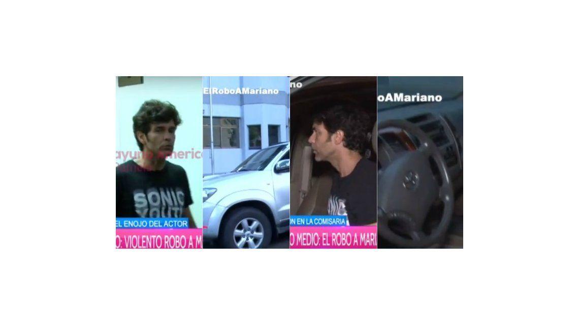 Así quedó la camioneta de Mariano Martínez tras el robo: el fuerte enojo del actor en la comisaría