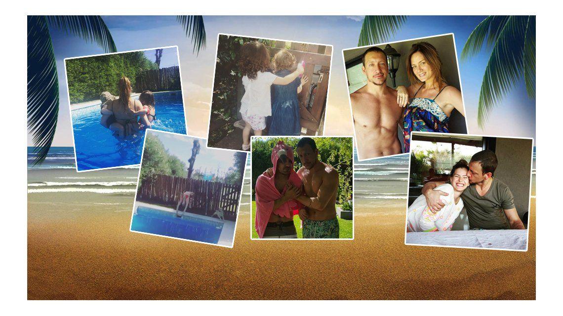 Amigos son los amigos: el día de sol y pileta de Gime Accardi, Nico Vázquez, la China Suárez, Paula Chaves y Pedro Alfonso con sus hijas
