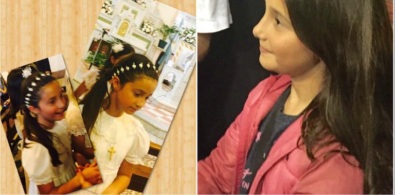 La emotiva comunión de la hija de Romina Yan y el sensible detalle: usó la tiara de su madre