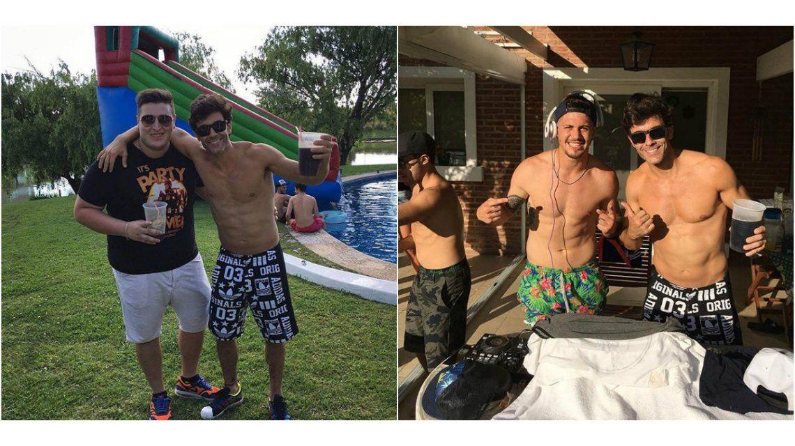 La pool party de Mariano Martínez que subió la temperatura en las redes